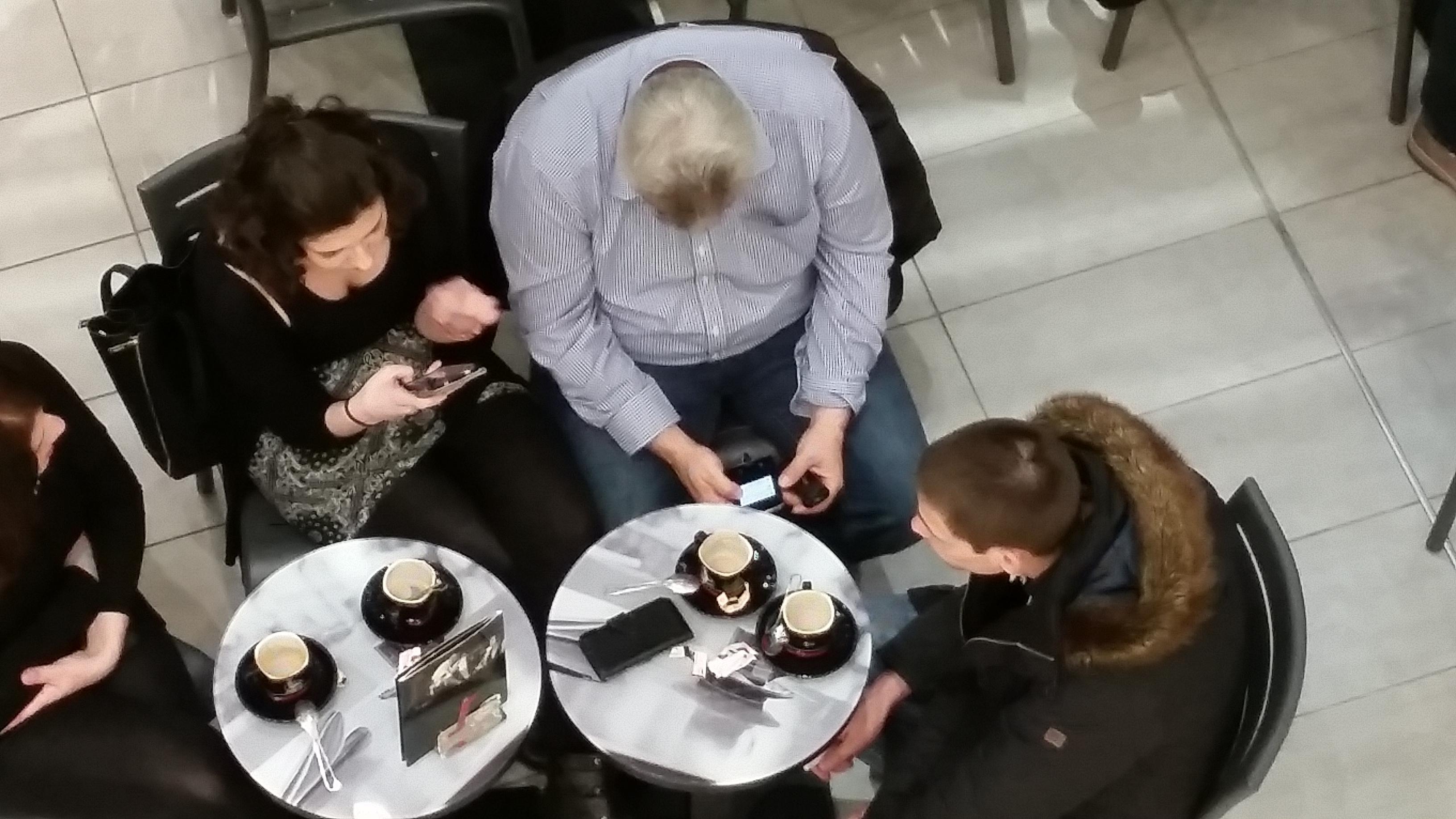 Vorübung mit Smartphone