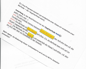 nitty-gritty Details: Modifier der Hauptmethode main()