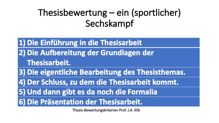 Kriterien Thesis-Bewertung